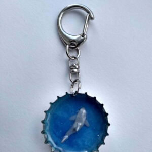 Habit-Cap Bottle Cap Key Ring – Great White Shark