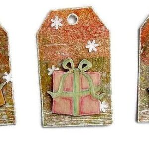 Vintage Christmas - Presents (Deco Art on Tags)