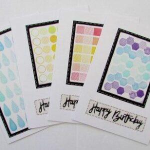 Geometric Birthday Cards (Gradient Colours)