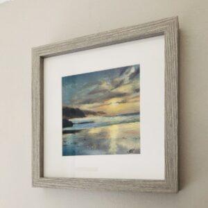Framed print Sunset at Perranporth
