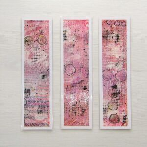 Mixed Media Bookmarks - Pinky Purples