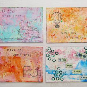 Mixed Media Postcards