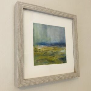 Framed oil painting Misty Malvern View