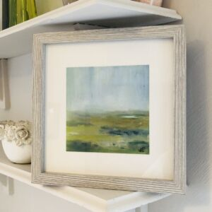 Misty Malvern View 2 'Soft Light' Framed abstract oil landscape painting
