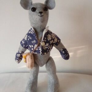 Collectable Liberty print wool bear