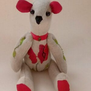 Poppy Embroidered Bear