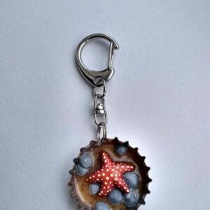 Habit-Cap Bottle Cap Key Ring – Rockpool Starfish
