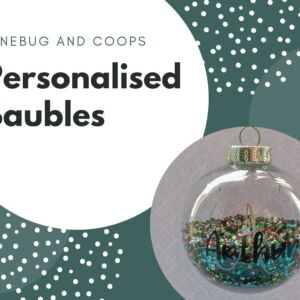 Personalised Christmas Confetti Bauble