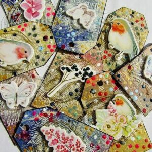 Flora and Fauna - Sprigs & Butterflies (Deco Art on Tags)