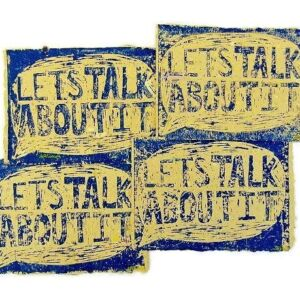"""In Full Flow"" Handmade Paper Dividers - ""Lets Talk"""