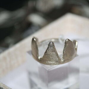Sterling silver 925 Maleficent crown ring size O