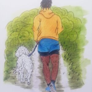 Running Buddy Greetings Card (Free UK postage)