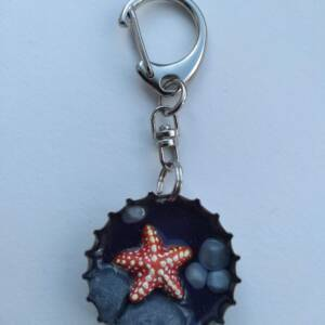 Habit-Cap Bottle Cap Key Ring – Rockpool Starfish