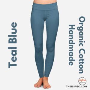 Teal Blue Organic Cotton Leggings