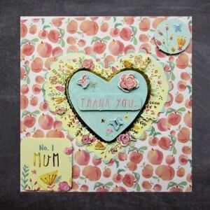Cottage Cards - Handmade greetings card - Thank you No. 2 Mum - 3D decoupage