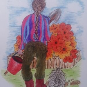 The Gardeners Assistant Greetings Card (Free UK postage)