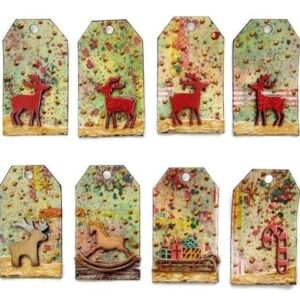 A Golden Christmas - Reindeer & Xmas Items