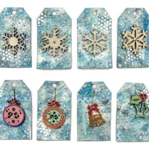 A Silver Christmas - Snowflakes & Decorations (Deco Art on Tags)