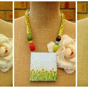 Canvas Pendant Necklaces
