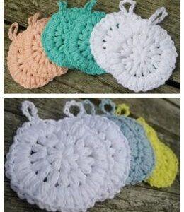 Crocheted Reusable Face Scrubbies: Set of 6