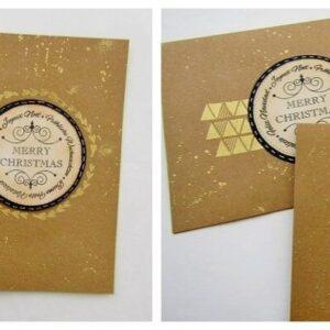 Gold Geometric Christmas Cards ( 2 Designs)