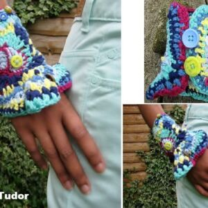 Adult Freeform Crocheted Wrist Cuff