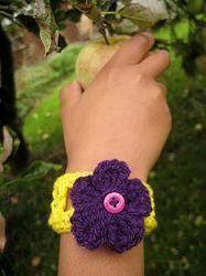 Child Sized Crochet Bracelet