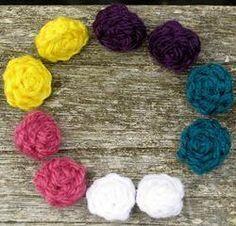 Crochet Button Stud Earrings