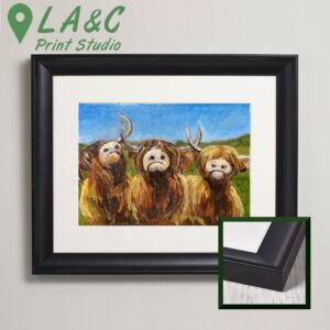 Cheeky coo highland cow acrylic painting