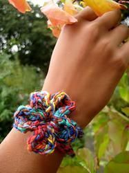 Adult Multi-coloured Crochet Loop Bracelet