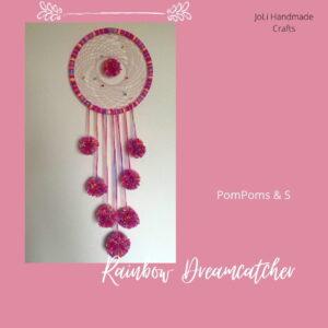 Handmade Dreamcatcher | Rainbow Pompoms