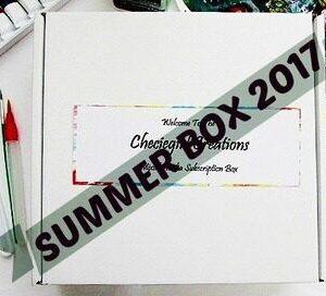 Checiegirl's Mixed Media Art Kits - Summer 2017 Box.