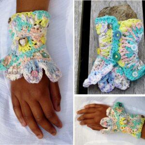 Kids Freeform Crocheted Wrist Cuff