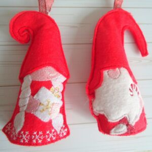 Christmas gnome duo tree decorations