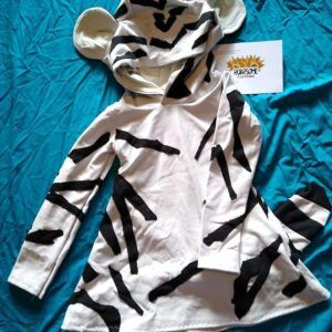 White tiger hooded dress/tunic