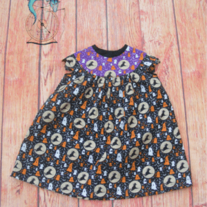 Handmade Halloween Witches Dress | Cotton Halloween dress age 2-3