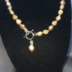 fastener for bronze pearls