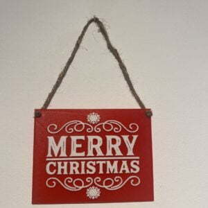 Merry Christmas 3d printed decorative plaque.
