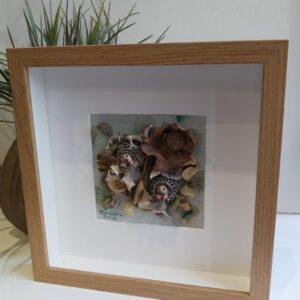 3D wall art| Mixed media woodland hedgehogs