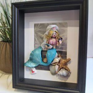 3D Wall Art | Handmade Framed Clay Mermaid - Hen night disaster