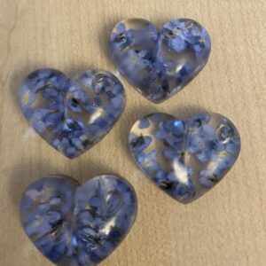 Handmade Forget Me Knot Pocket Hearts