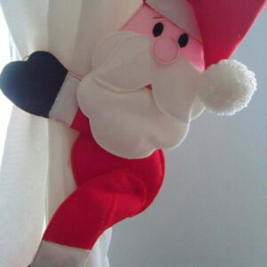 Festive curtain tie backs-Santa or Rudolph