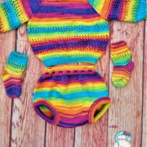 Hand knitted outfit for baby 12 months old