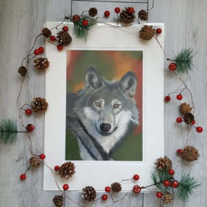 Grey Wolf giclee print by Alan Taylor Art