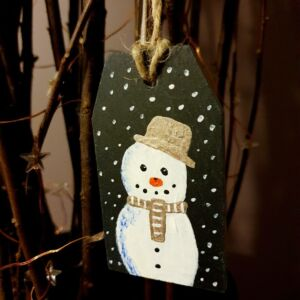 Original Slate Hand Painted Snowman