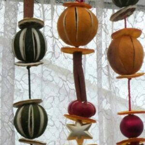 Dried fruit christmas decoration