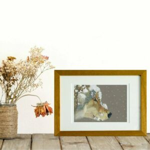 Snow Wolf giclee print by Alan Taylor Art