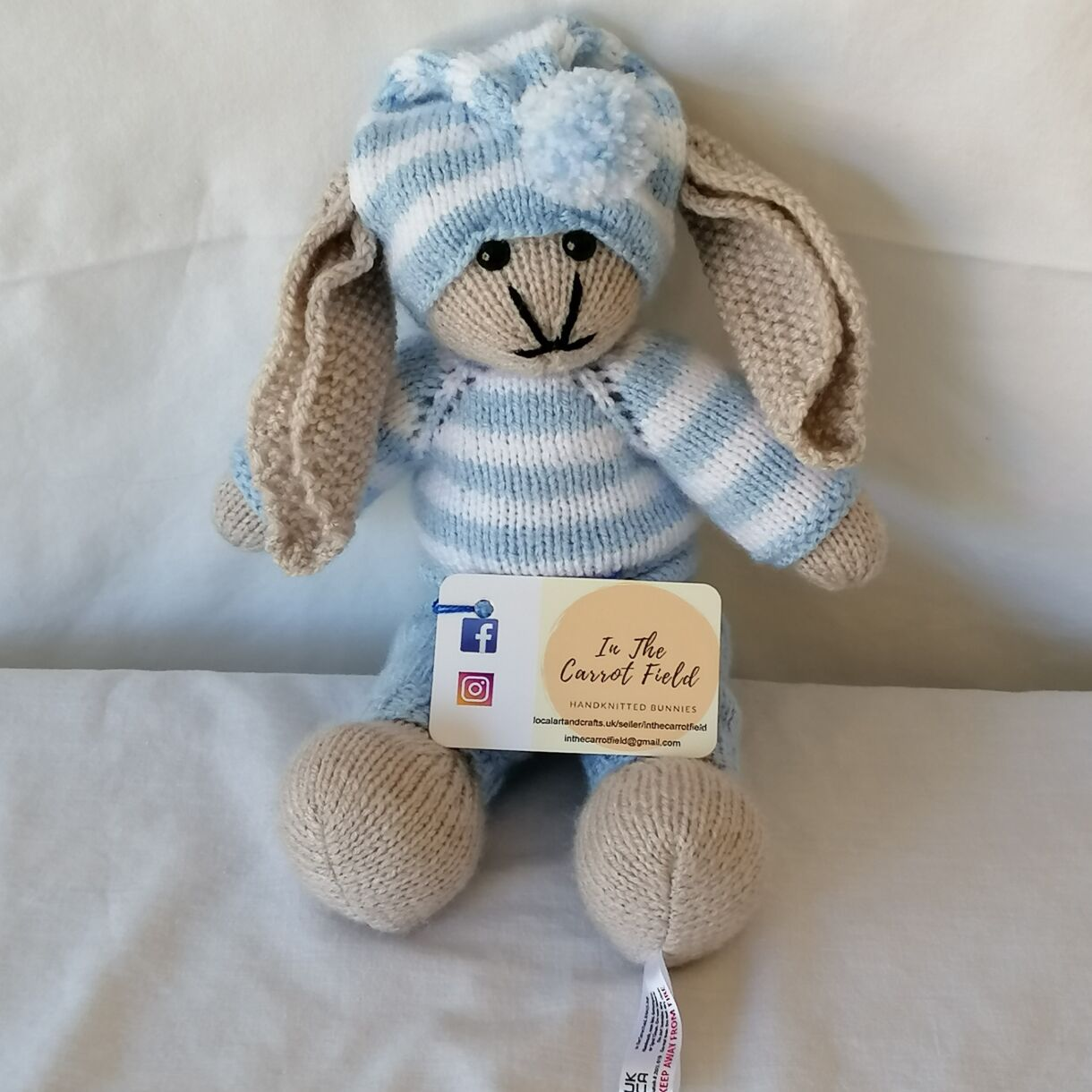 Hand Knitted Snuggle Bunny Soft Toy,