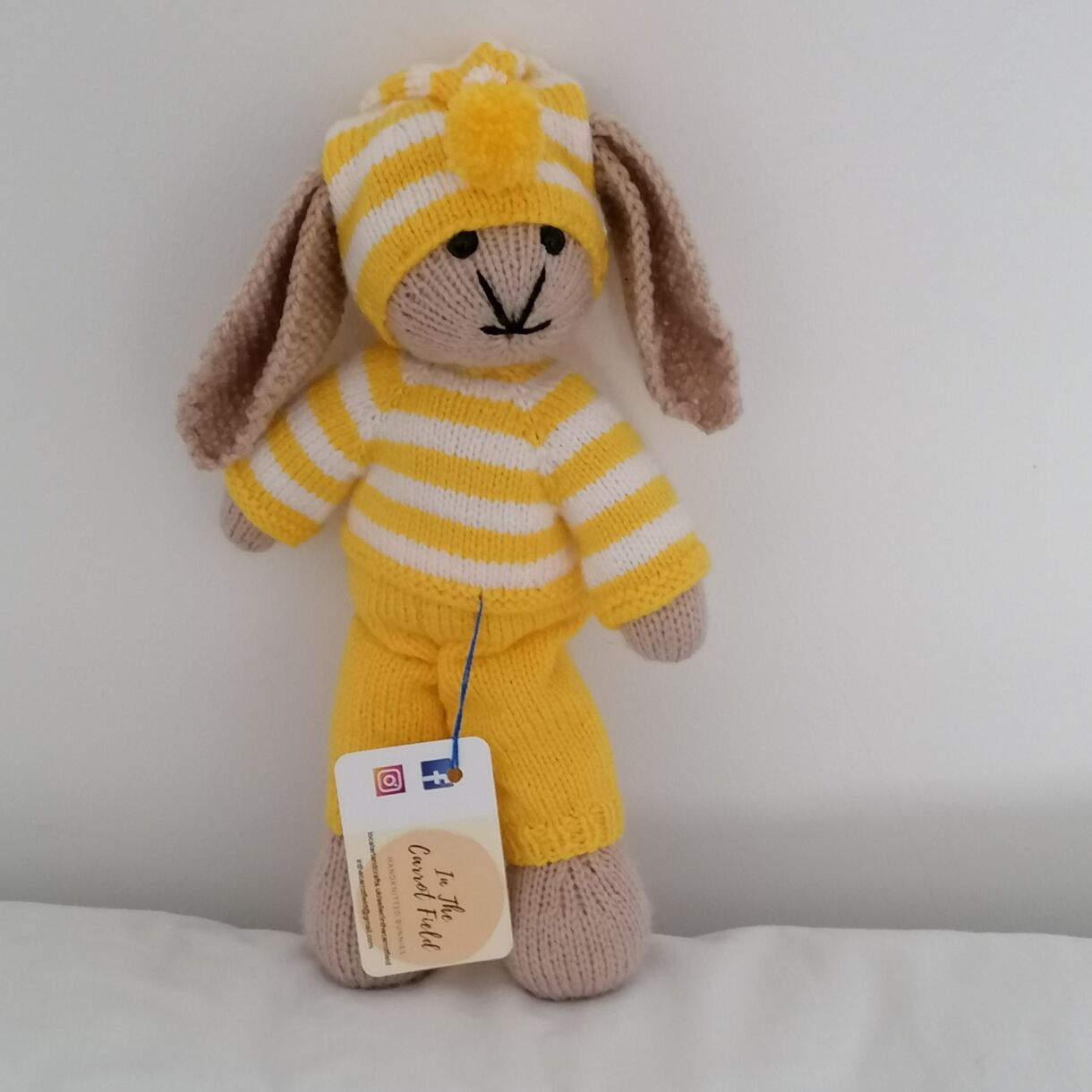Hand Knitted Bunny Soft Toy,