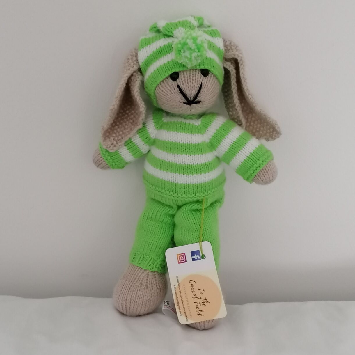 Unique Hand Knitted Bunny